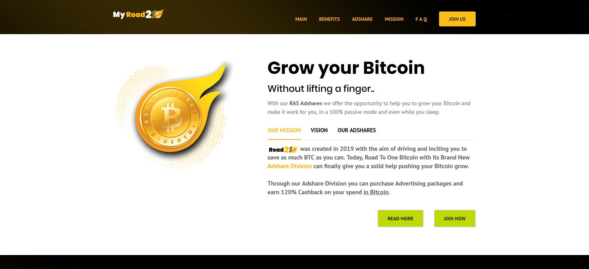 bitcoin adshare